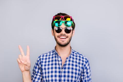 Prêt d'un coffret de montures de lunettes